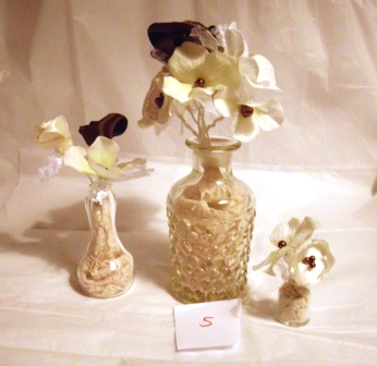 Have It All Wedding Table Fabric Flower Centerpieces