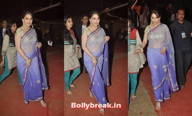 Madhuri Dixit, Bollywood Celebs Style Check at Mumbai Police Umang 2014