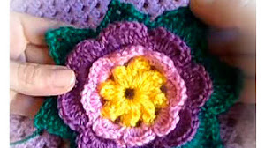 Aprende a Tejer una Flor Crochet / Tutorial en video