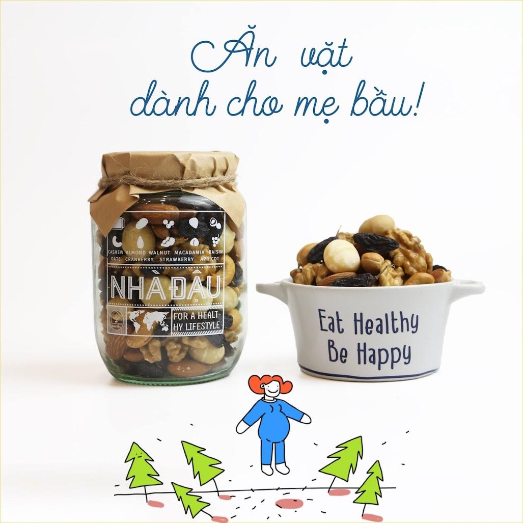 Mix hạt dinh dưỡng Mẹ Bầu nên ăn để thai nhi hấp thụ tốt nhất