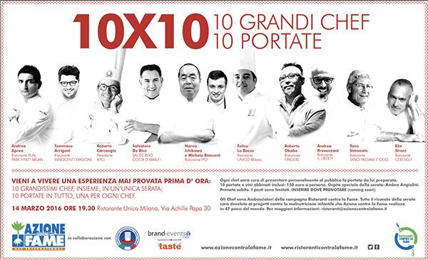 10x10 - 10 GRANDI CHEF, 10 PORTATE 14 Marzo Milano