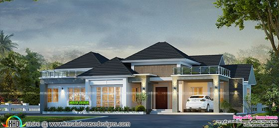 3131 sq-ft bungalow home design