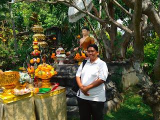 Selfie In The Buddhist Altar Offerings