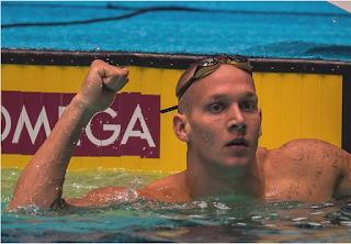 Olympic gold medalist, swimmer Caeleb Dressel
