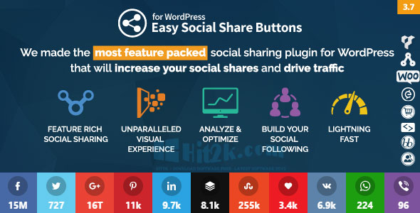 Easy Social Share Button 3.6.1 WordPress plugin Extended License