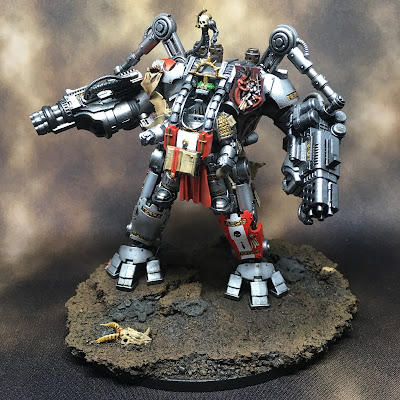 Grey Knight Grand Master in Nemesis Dreadknight Front
