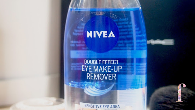 Nivea Double Effect Eye Makeup Remover is gentle and doesn't sting or burn the eyes, it breaks down the waterproof makeup and remove them easily without any pressure. It is not greasy at all.