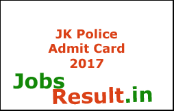 JK Police Admit Card 2017
