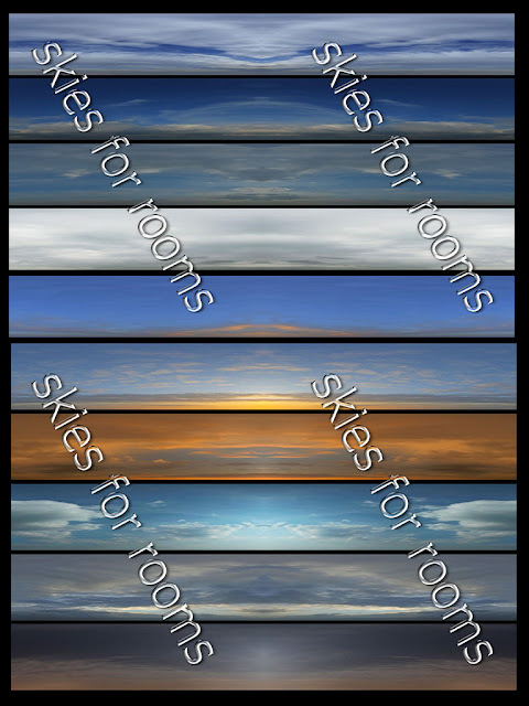 TEXTURES IMVU FOR SALE: New pack Ten textures skies 512x256