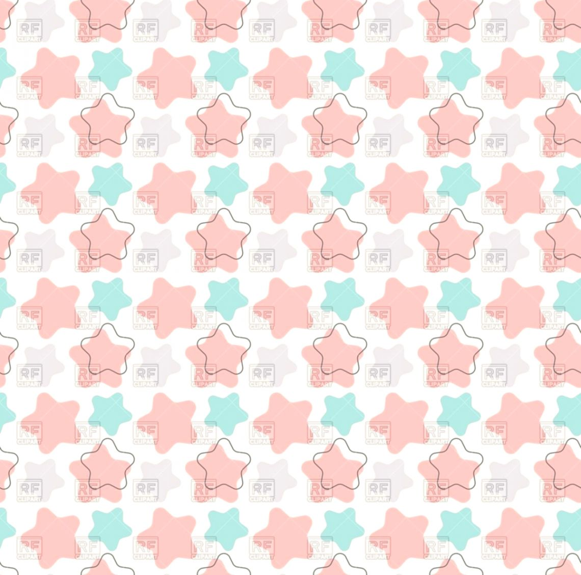 Cute vintage seamless wallpaper with stars Vector Image – Vector