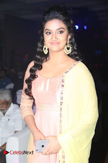 Actress Keerthy Suresh Pictures in Salwar Kameez at Remo First Look and le Track Launch  0031