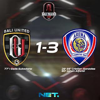Arema Cronus Menang 3-1 atas Bali United Pusam