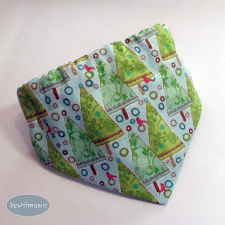 Pastel Christmas Trees Dog Bandana