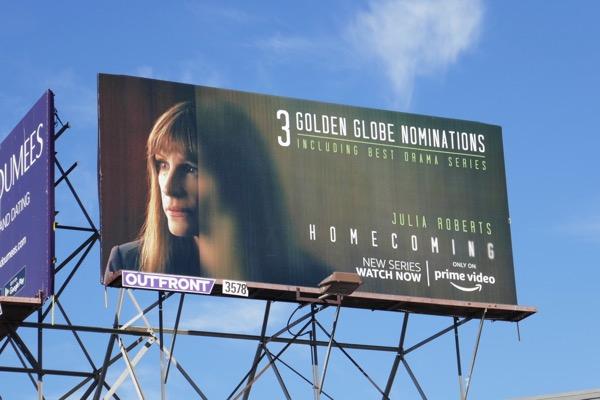 Homecoming season 1 Golden Globes billboard