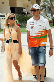 Adrian Sutil and his girlfriend