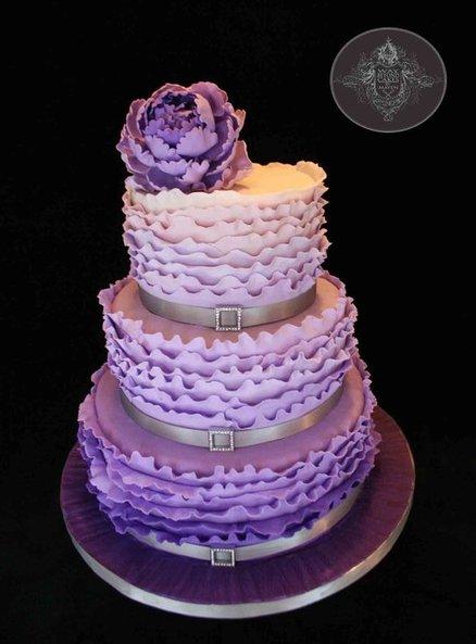 Wedding Cakes Pictures Purple Ombre Wedding Cake