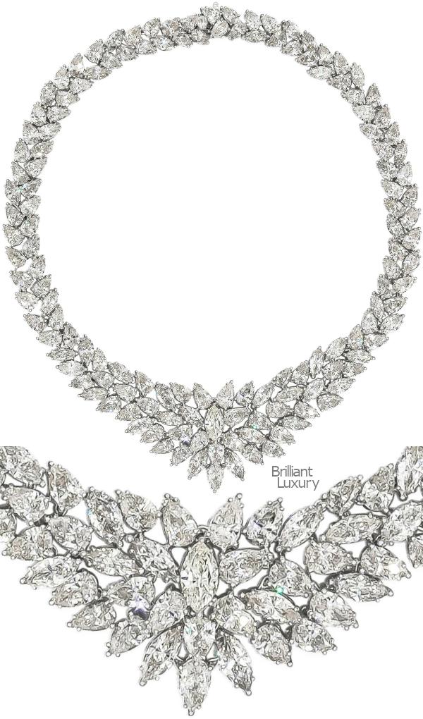 Brilliant Luxury♦115.20 Carat Cluster Diamond Necklace