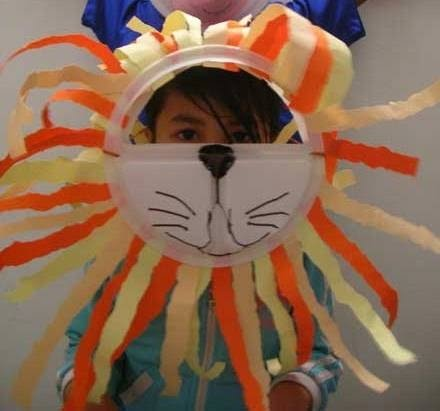 Paper Plate Lion Mask - Ronniebrownlifesystems