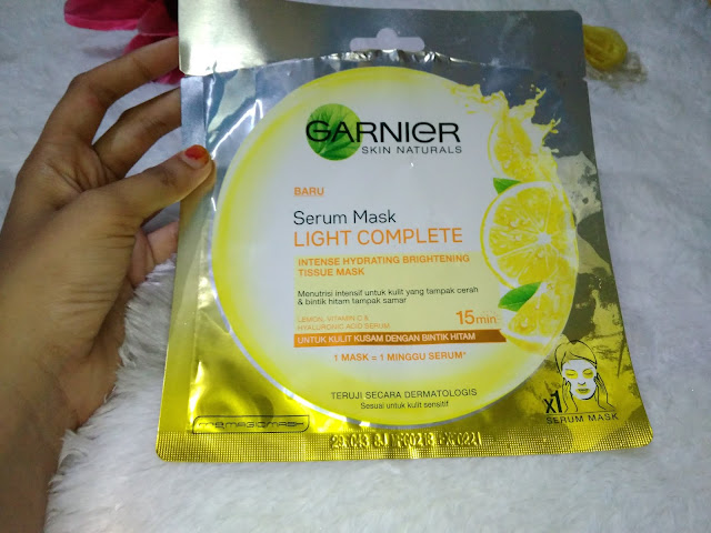 garnier serum mask light
