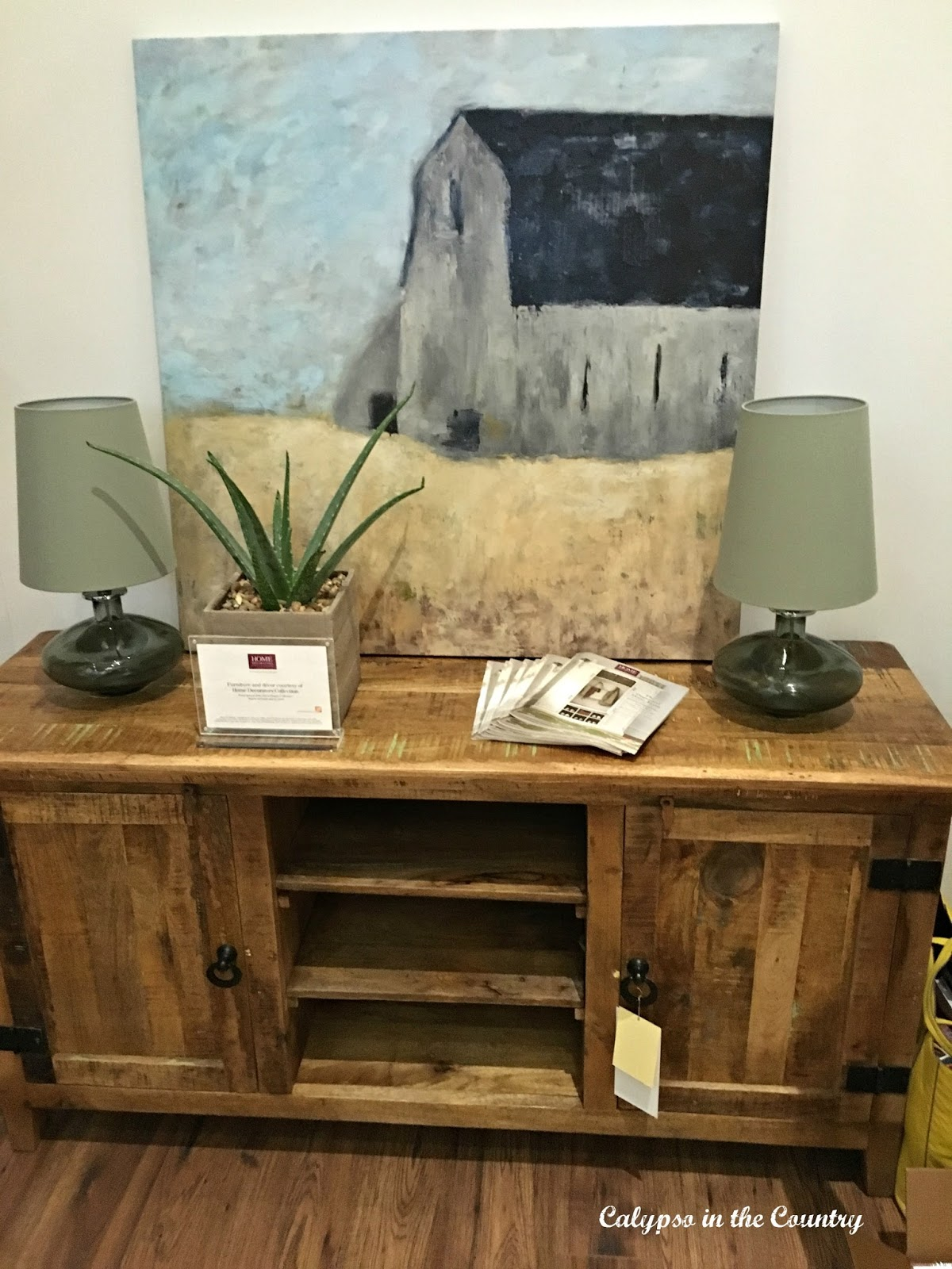 A Pretty Vignette featuring pieces from Home Decorator's Collection displayed at the Haven blogger's conference.