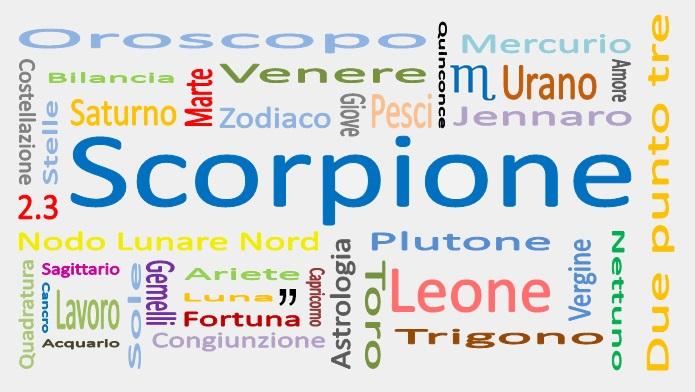 Oroscopo gennaio 2019 Scorpione