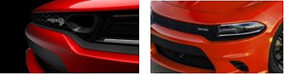 Compares the grilles of 2018 and 2019 Dodge Charger models.