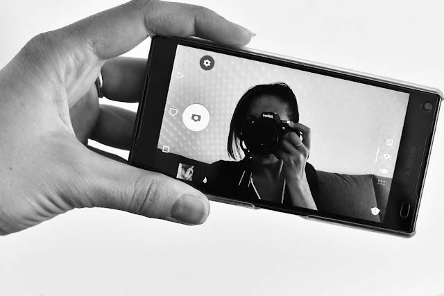 autoportrait, portrait, moi, me, téléphone, xperia, Z5 compact, miroir, rigolo