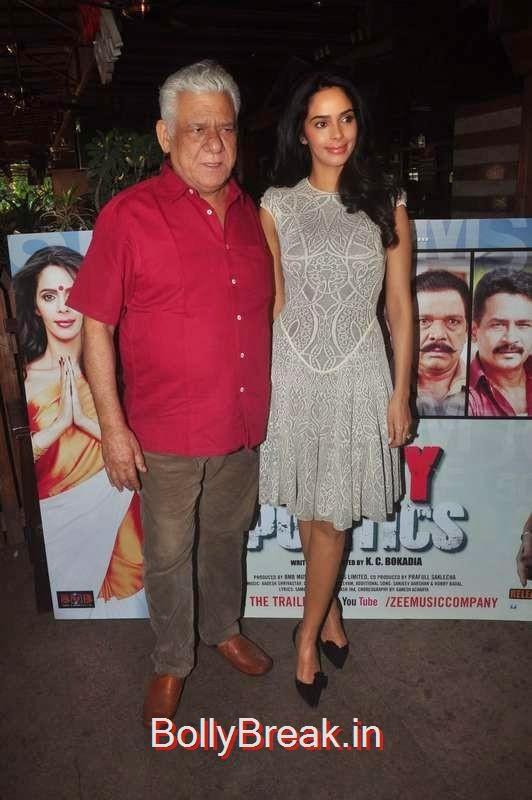 Om Puri and Mallika Sherawat at Dirty Politics film promotions,  Malaika Arora Khan, Nimrat Kaur, Shriya Saran,  Mallika Sherawat At Different Events