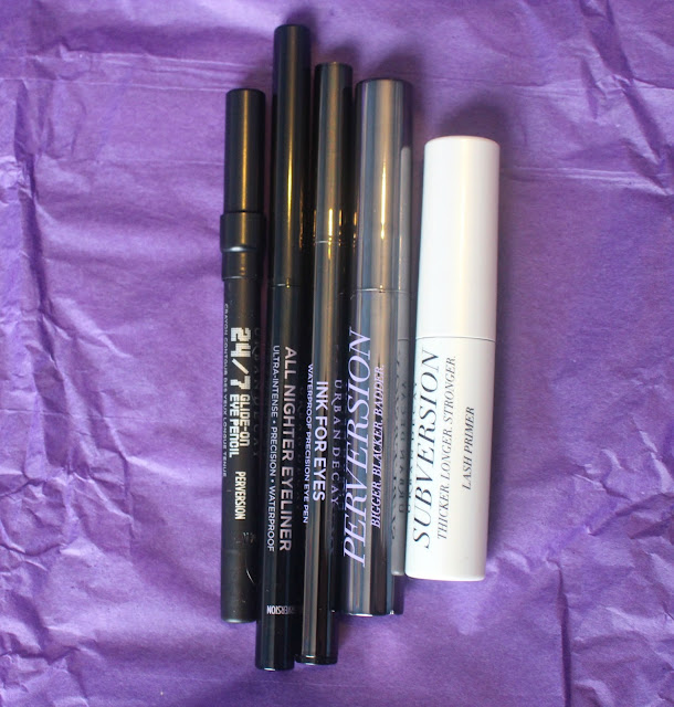 Photo of contents of Little Perversions Gift Set from Urban Decay Goodie Bag