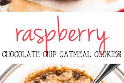 Raspberry Chocolate Chip Oatmeal Cookies