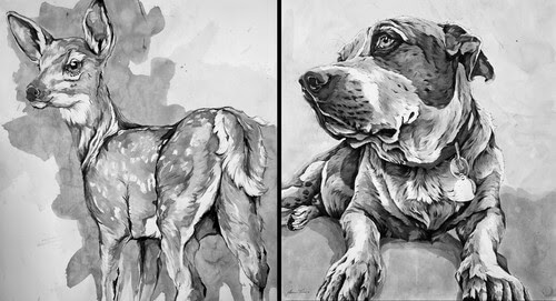 00-A-Landerman-Animal-Drawings-Paintings-in-Graphite-and-Ink