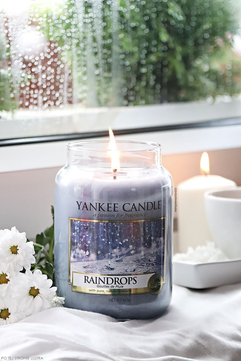 duża świeca yankee candle raindrops
