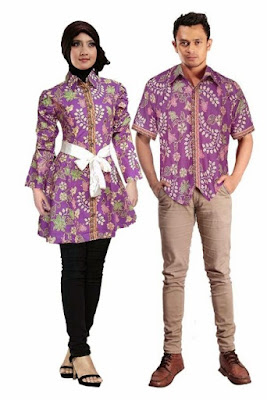 model baju batik couple pasangan modis