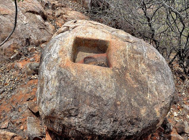 1st Century BC Buddhist remains found on hill in Amaravati
