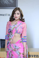 Actress Angela Krislinzki in Pink Saree Blouse Exclusive Pics March 2017 ~  084.JPG