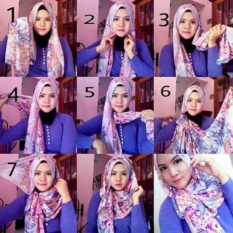 Model dan Cara Menggunakan Hijab Pashmina Simpel Praktis 2