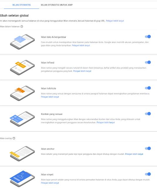 Cara Memasang Iklan Google Adsense Auto Ads [iklan otomatis] dengan mudah