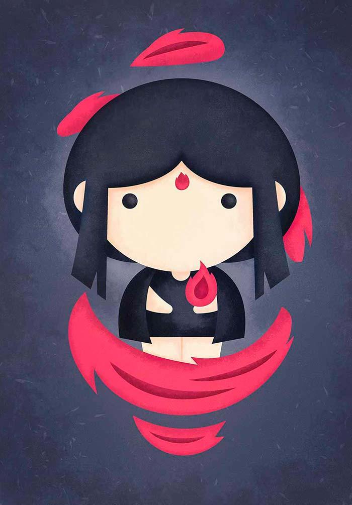 Ilustración, The legend of avatar de Sara Gummy