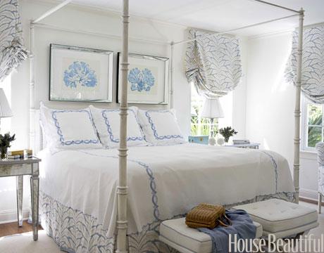 amusing light blue white feminine bedroom   Seaside Style: Palm Beach Chic