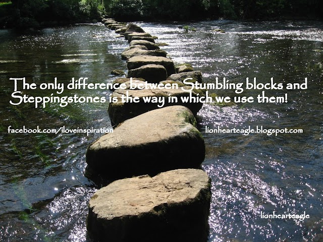 Stumbling block or Stepping stone