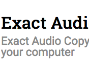 Exact Audio Copy 2017 Free Download