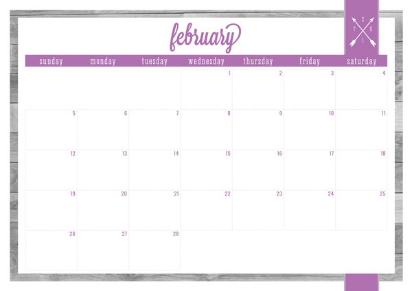 Free Printable Classic 2017 Calendars & Covers - Eliza Ellis