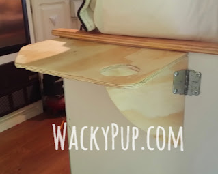 Amazing Swing Up Table - no special hardware, sturdy - great ideas clever tutorials WackyPup