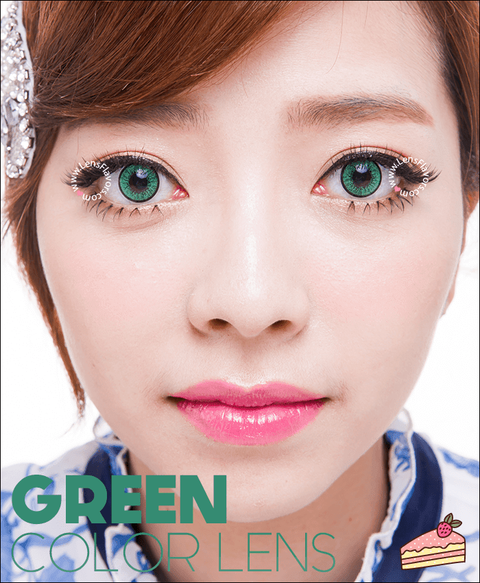 eos adult green colored contacts