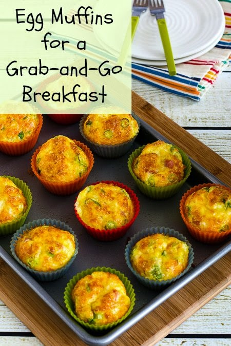 Egg Muffins Recipe for a Grab and Go Breakfast (Low-Carb, Gluten-Free) found on KalynsKitchen.com