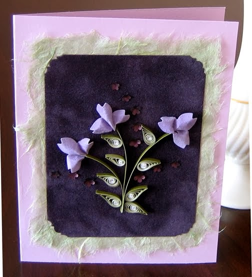 Quilled and Punched Flower Card