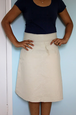 self drafted bias skirt front