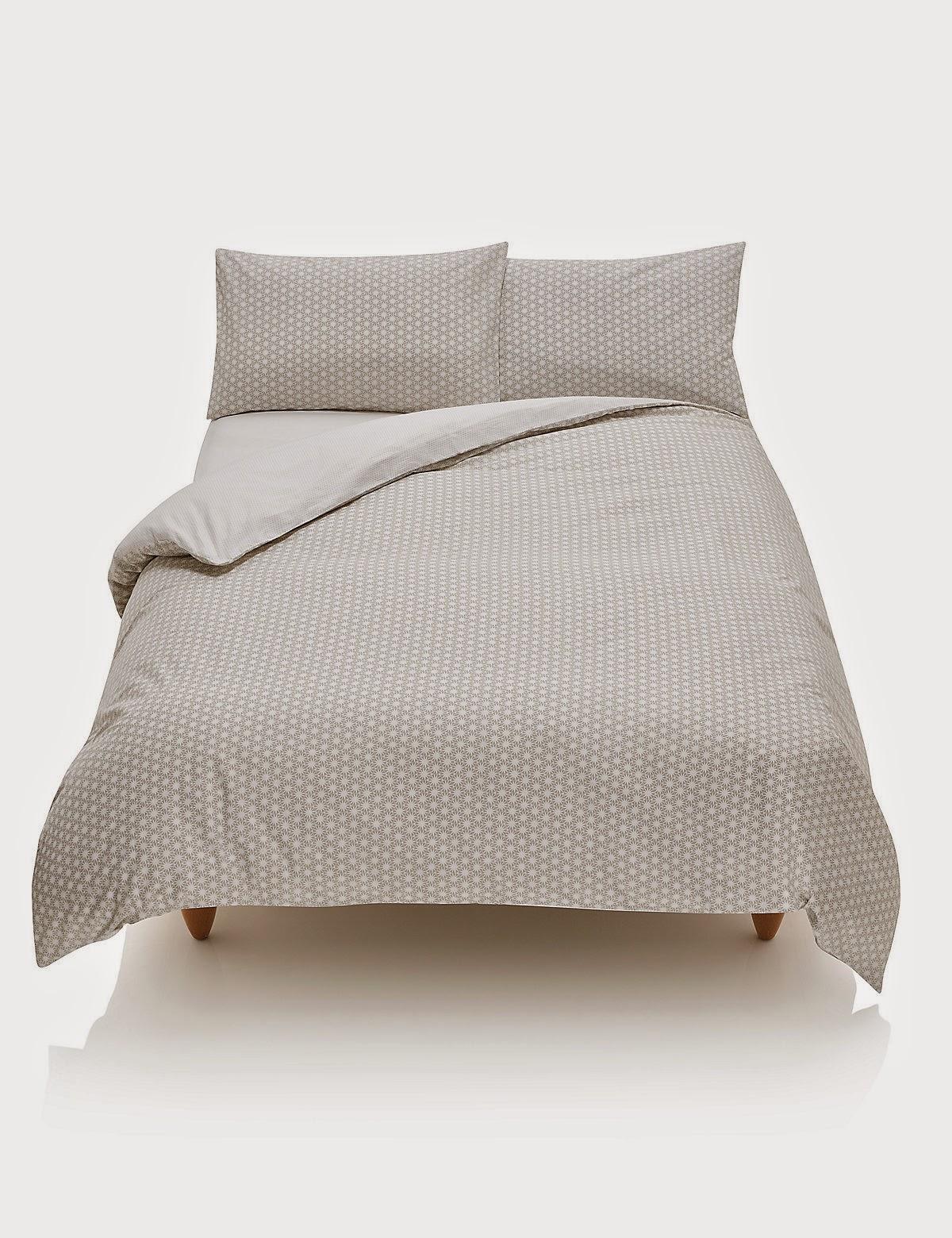 Grey star print bedding Marks & Spencer