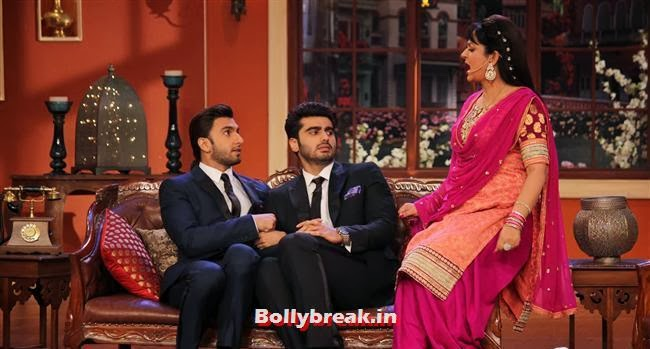 on the sets of Comedy Nights with Kapil, Gunday Promotion on Comedy Nights with Kapil
