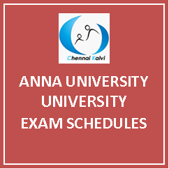 Anna University Exam Timetable Dec 2016 / Jan 2017